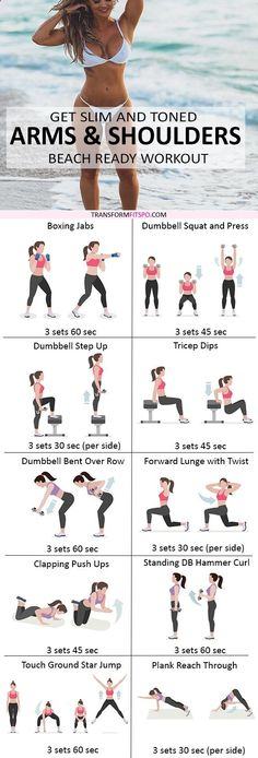 Repin and share if this workout got you in sexy shape! Read the post for all the info!https://transformfitspo.com/slim-toned-arms-shoulders-get-beach-ready-record-time-nuts/