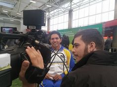 Atleta paralímpico Luis Carlos Cardoso durante entrevista ao Esporte Interativo #Rio2016