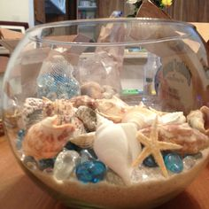 Ask me! I have more fishbowls, seashells and sea glass than you'd ever need! Why buy when you can rent?!