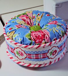 a different pincushion with the free tutorial from Free Spirit.