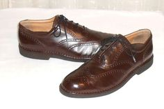 Rockport Dressports Men's Brown Leather Wing Tip Oxford Shoes Size 10.5  M #Rockport #Oxfords