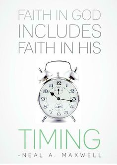 GOD'S Timing is perfect!!