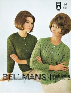 vintage ladies coat  cardigan vintage pattern by EnglishCrochet
