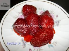 Raspberry, Strawberry, Greek Sweets, Dessert Recipes, Desserts, Greek Recipes, Recipies, Food And Drink, Cooking Recipes