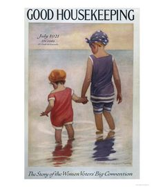Good Housekeeping magazine cover, July 1921 Jessie Willcox Smith