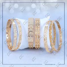 6PCS191101 Gold Bangles Design, Jewelry Design, Gold Jewelry, Jewels, Bracelets, Gold Jewellery, Bangle Bracelets, Jewelery, Gem