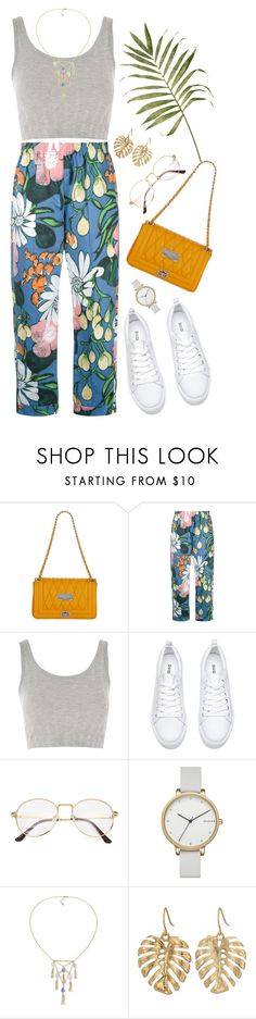 """""""Untitled #1317"""" by shannonmichellex ❤ liked on Polyvore featuring Mario Valentino, Marni, Topshop, Skagen, Carolee and The Sak"""