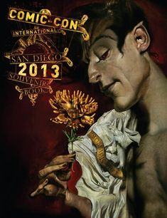The 2013 edition of the Comic-Con International Souvenir Book- cover was created exclusively for Comic-Con by special guest Dave McKean, and celebrates the 25th anniversary of Neil Gaiman's The Sandman series.