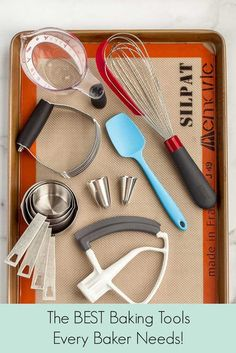 If you are wanting to bake desserts in your home, there are some baking tools that you should get. Here is a complete list of the best baking tools from Live Well Bake Often that every home baker needs to have in their kitchen. With these essential tools, you'll be baking like a pro in no time! Baking Wallpaper, Home Baking, Kids Baking, Fall Baking, Holiday Baking, Christmas Baking, Valentines Baking, Baking Basics, Baking Videos