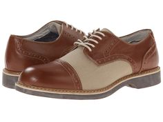 1920s men's shoes - Bass - Perkins (New Tan/Natural Waxy Milled/Canvas) Men's Lace up casual Shoes
