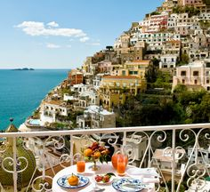 View from room at Le Sirenuse Hotel, Positano