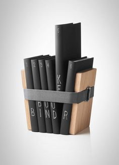 Christoffer Martens' Book Binder are the only pair of bookends we've seen that lets you organize books even without a bookshelf. Deco Dyi, Design3000, Menu Book, Book Binder, Deco Originale, Book Storage, Book Shelves, Deco Design, Sweet Home