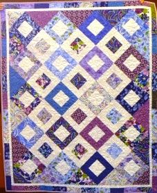 A luscious Citrus Smoothie quilt by Mary Ann. Yummy!