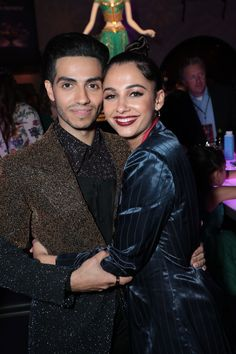 Mena Massoud and Naomi Scott at the Premiere party of Disney's live action movie, Aladdin Aladdin Film, Aladdin Cast, Naomi Scott, Cute Celebrities, Celebs, Disney Pop, Princesas Disney, Couple Photography, Disney Animation
