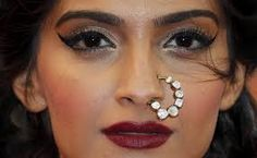 Sonam Kapoor In Anamika Khanna Couture Saree, Jimmy Choo shoes and Sunita K jewels at 2013 Cannes Film - Latest Fashion, Ladies Fashion Mens Fashion and Style Guide Nath Nose Ring, Bridal Nose Ring, Septum Ring, Nath Bridal, Wedding Jewelry, Sonam Kapoor Cannes, Nose Ring Designs, Piercings, Indian Nose Ring