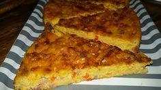Migliaccio (torta di semolino e ricotta) salato con emmental, salame e peperoni. - IL GREMBIULE INFARINATO - Pie semolina and cottage cheese , Emmental cheese with salami and peppers