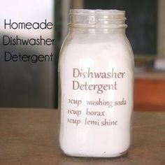 Homemade Dishwasher Detergent!