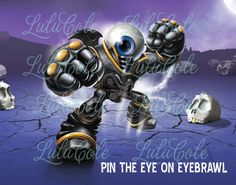 INSTANT DOWNLOAD - Skylanders Party Game - Pin the Eye on Eyebrawl