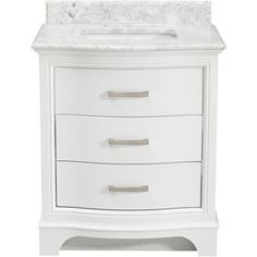 allen roth white marble undermount single sink poplar bathroom vanity with natural marble top