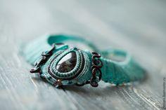 """Купить Колье """"Эдаль"""" - авторское украшение, ручная авторская работа, Макраме, яшма, подарок для женщины"""