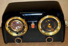 Vintage Rare Black Crosley Dashboard Bakelite Tube Radio Nice   eBay