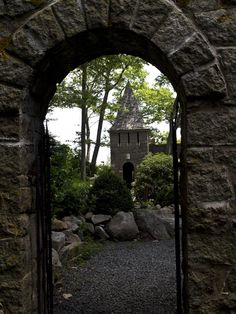 An entry to Hammond Castle, Gloucester, MA