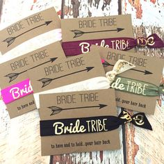Bachelorette Party Favors Hair Ties // Bride by ElasticHairBandz
