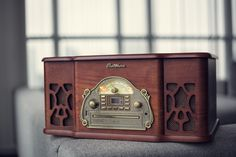 Backed by over 100 years of manufacturing high-quality audio products, Electrohome has paired the design of vintage record players with the features of modern stereo systems. Retro Record Player, Record Players, Vintage Records, Turntable, Vinyl Records, Retro Vintage, Elegant, Design, Dapper Gentleman