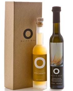O Olive Oil Natural Box Oil & Vinegar Set