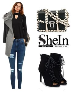 """""""SHEIN T-Shirt"""" by tania-alves ❤ liked on Polyvore featuring Topshop, JustFab, Proenza Schouler and River Island"""