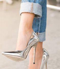 Metallic shoes are a great way to make a shining shoe statement this Fall! http://mkaltenbach.com/metallic-shoes/