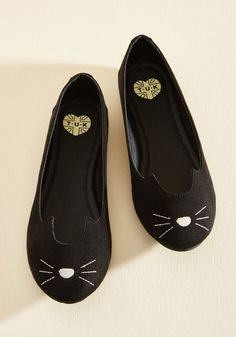 Mew and Me Forever Flat in Black in 11, #ModCloth