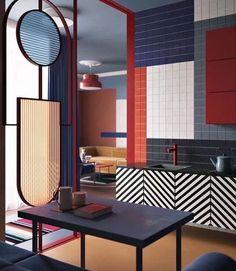 Blocks of different tiles. Do more subtle colours