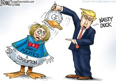 Duck and Cover-Up   :::   Hillary Clinton is being exposed for her dirty politics and corruption. She was behind Donald Duck costume.