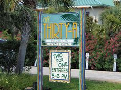 CAFE THIRTY-A , Santa Rosa Beach, FL ~ Route 30a ~ SoWal ~ Old Seagrove  {Photo by K. Porcher}