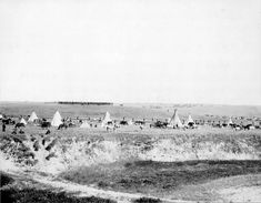 Reenactment of the Wounded Knee Massacre — with a line of U.S. troops in the background, and the Lakota Indian encampment at Wounded Knee in front. This is only a 1913 reenactment of the 1890 massacre, not the actual one.- Wounded Knee Massacre - Wikipedia, the free encyclopedia