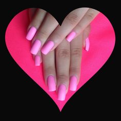 Pink matte nails <3