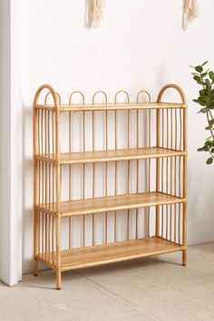 Magical Thinking Alma Rattan Bookshelf - Urban Outfitters…this matches the crib perfectly Bookshelf Plans, Bookshelves Kids, Bookshelf Ideas, Bookcase, Bamboo Furniture, Home Furniture, Furniture Stores, Furniture Ideas, Modern Furniture