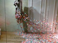 anthropologie paper window displays....so artistic