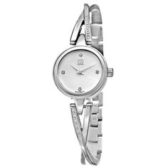 Shop for ESQ by Movado Women's Sienna Stainless Steel/ Diamonds Watch. Get free delivery On EVERYTHING* Overstock - Your Online Watches Store! Silver Watches, Jewelry Watches, Crystal Diamond, Best Watch Brands, Stylish Watches, Beautiful Watches, Stainless Steel Bracelet, Vintage Watches, Jewelry Shop