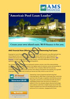 Pin by AMS Financial Solutions, Inc on Pool Loan Calculator ...