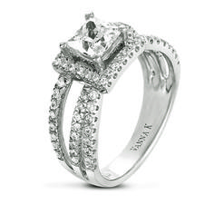 VannaK.com  Diamond: Round .58 Carat (not included 1 Carat center stone)  The Solea bridal collection, using the micro-pave technique, represents unsurpassed quality, refinement & detail, ensuring the greatest token of love and commitment.
