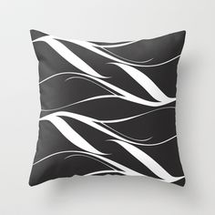 Black White Throw Pillow cover by Ramon Martinez Jr - $20.00