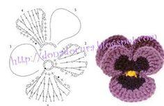 Crochê Bya Ferreira: 10 Gráficos de flores em crochê