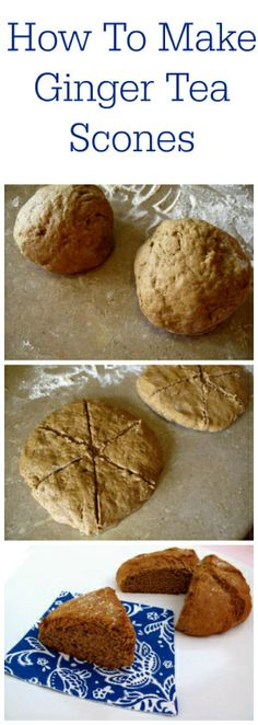 How To Make Ginger Tea Scones | The Kitchen Magpie #recipe