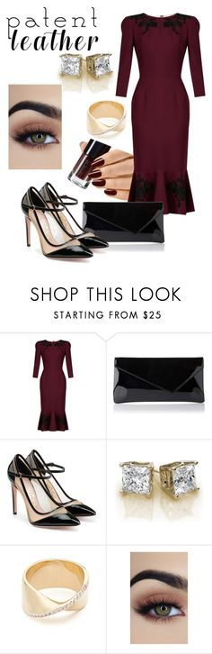 """""""Patent leather"""" by simona-georgescu ❤ liked on Polyvore featuring Dolce&Gabbana, Salvatore Ferragamo and Adina Reyter"""