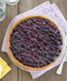 Make the most of in-season berries with this luscious dessert. Recipe: Blueberry Cream Pie   - CountryLiving.com