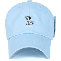 Disney Cotton Cute 101 Dalmatians Logo Adjustable Curved Hat Baseball... ($14) ❤ liked on Polyvore featuring accessories, hats, ball cap hats, logo baseball caps, cotton baseball caps, adjustable baseball hats and adjustable hats
