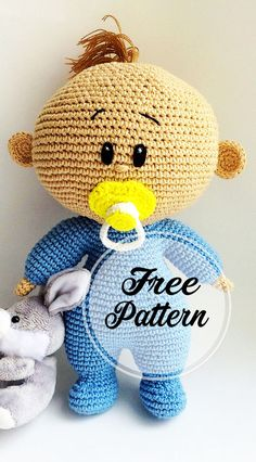 Amigurumibaby mit Dummy frei häkeln Muster Teil baby with dummy free crochet pattern part crochet amigurumi; amigurumi in Crochet Patterns Amigurumi, Amigurumi Doll, Crochet Dolls, Knitted Doll Patterns, Doll Patterns Free, Knitted Teddy Bear, Easy Knitting Projects, Hand Knitted Sweaters, Homemade Gifts