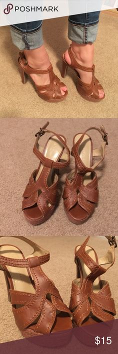 Lauren Conrad Boho Pump Brown Lauren Conrad pump, size 9M. Some scuffs on back left stem, otherwise in good condition from a smoke free home. LC Lauren Conrad Shoes Heels